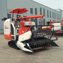 Hot selling 4LZ-4.0 Rice combine harvester with 4-5m high Grain discharging pipe