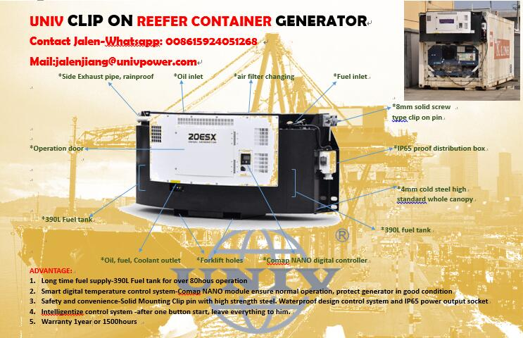 Thermoking type Reefer container Clip on generator