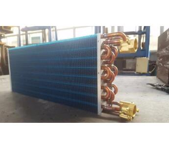 Copper tube air cooled fan coil heat exchanger coil