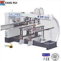 Multiple spindle woodworking boring machine