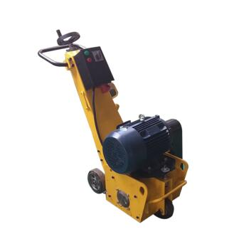 Portable concrete scarifier with electric motor