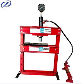 Supply ISO Approved 10 Ton Hydraulic Shop Press Car Repair Tools