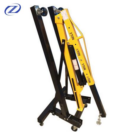 ISO9001 3 ton portable manual hydraulic folding small shop crane