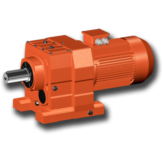R Series inline helical electric motor aluminium gearbox