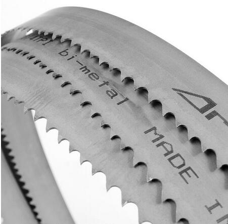 Tungsten tipped woodworking band saw blade