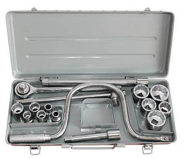 17PCS Hand Tool Socket Wrench Set
