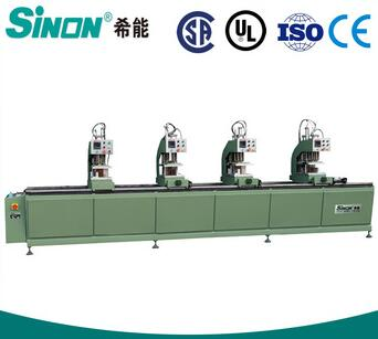 four head welder for UPVC vinyl profile window upvc window making machine to assemble upvc windows doors