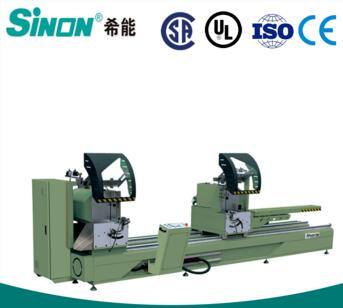 Double head aluminum cutting machine for 45 degree making windows and doors