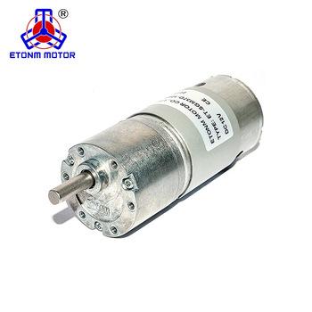 CE ROHS approved 12V 24V metal gear 37mm PM dc brushed gear motor for range hood