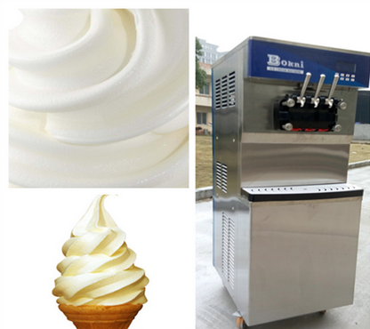 Upright water-cooling softee ice cream production line soft dondurma makinesi
