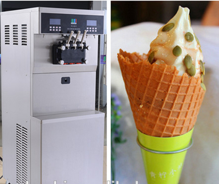 Floor standing softee ice cream production line with large capacity