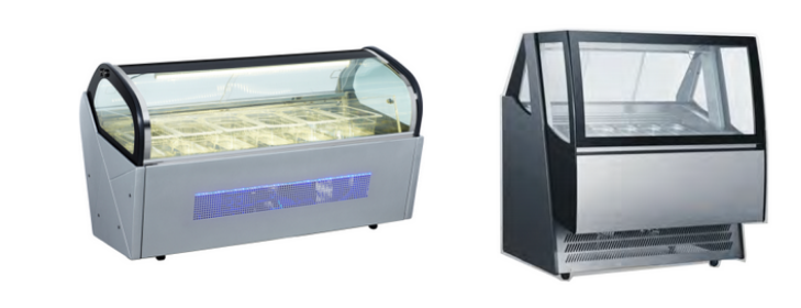 480L Commercial Cool Storage Cabinet Ice Cream refrigerator Display Showcase Ice Cream Display Freezer