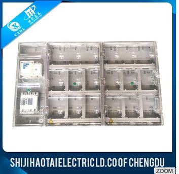Mechanical outdoor plastic electrical transparent Meter Box