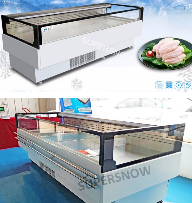 Open Type SeaFood Used Refrigerated Display Cases For Sale
