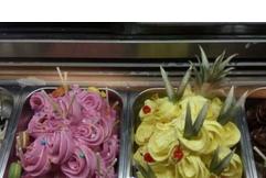 Front Opening Type Gelato Shop Ice Cream Cooler