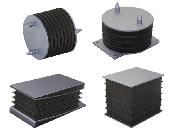 Compression rubber spring for railway vehicles