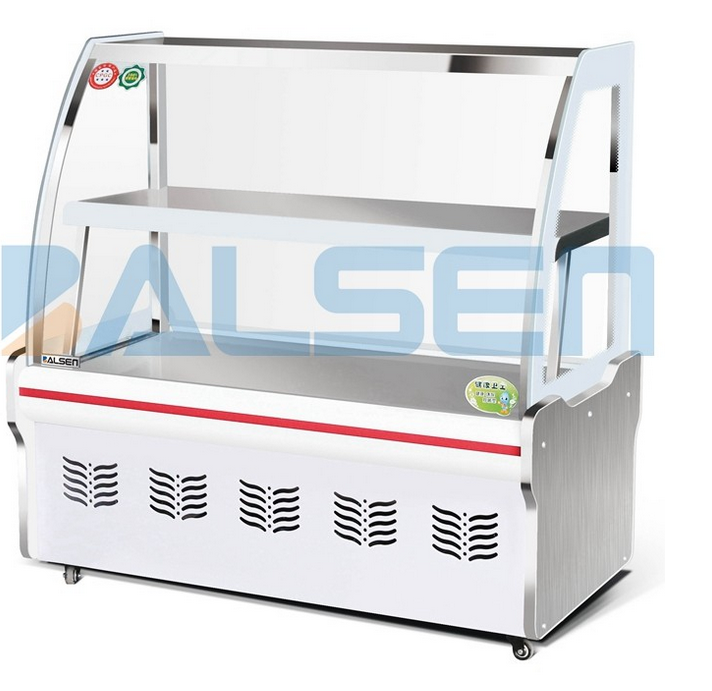 Horizontal display freezer for cakes display cooler for restaurant