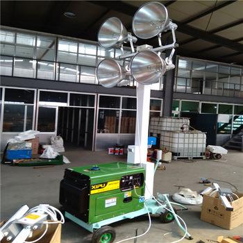 400W*4 diesel or gasoline engine portable high mast mobile light tower