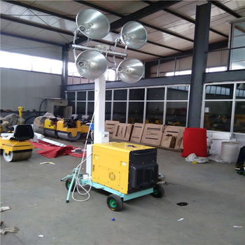 Long Continuous working time 4x1000w Mobile Led Industrial Lighting Tower