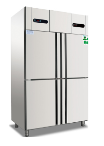 2017 hot selling free standing cooler refrigerated showcase with factory price