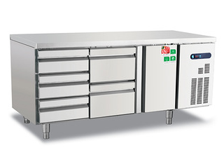 Hot sale Ventilation style commercial restaurant kitchen refrigerator with drawers