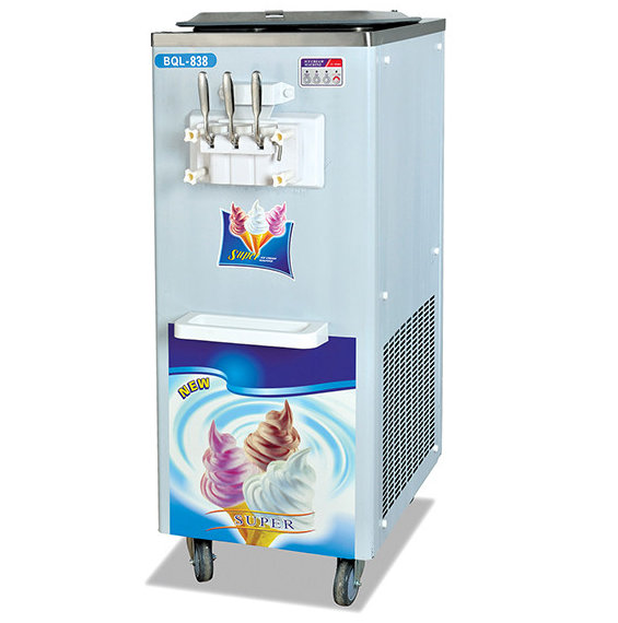 3 flavors hard ice cream makers