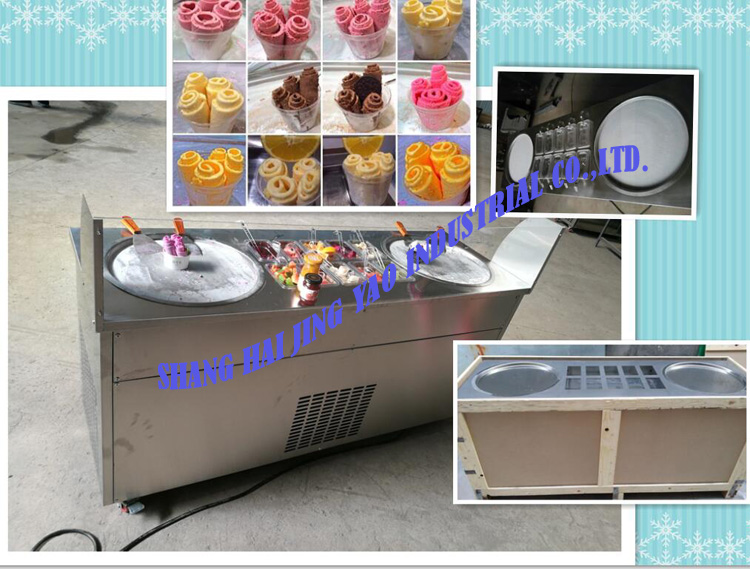 CE Approved 2016 The Best Seller Thailand Fried Ice Cream Machine/ Flat Pan Fry Ice Cream Machine