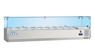 Static style commercial Sushi display cabinet refrigeration equipment for sale