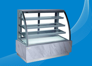 4 Tiers Display Freezer Showcase with Marble Base for Cake