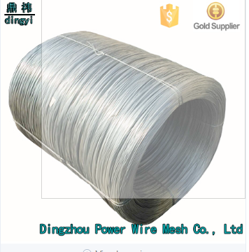 bwg21 iron wire/2.0mm electro galvanized iron wire/galvanised steel fence wire price of Chain Link Fence Raw Material