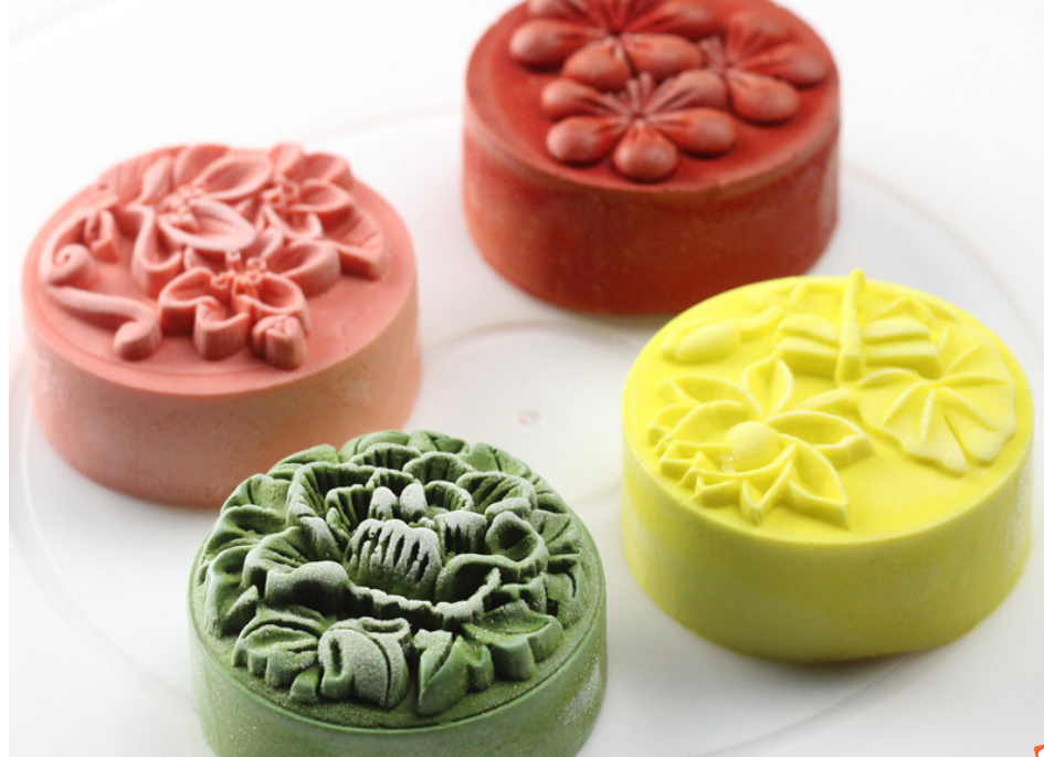 Nicole New 4 Holes Silicone Mold For Soap Non-stick Silicone Cake Decorating Molds