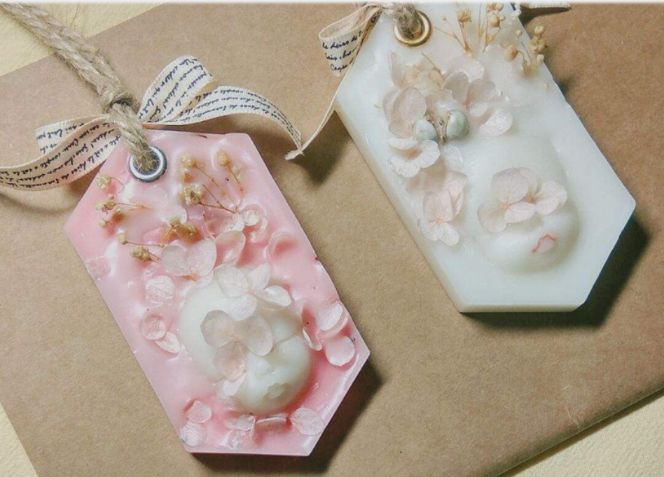 Nicole New Handmade Car Decorative Pendant Ornament Dried Flowers Aroma Wax Tablets Silicone Mold 6 Holes Silicone Bar Soap Mold