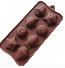 Shells Silicone Chocolate Mold, 8-Piece Per Mold