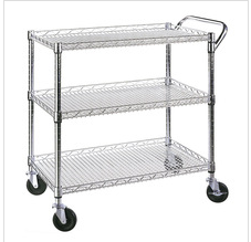 Hospital utility carts Stainless Steel wire racking Cart Kitchen Office Dining Shelf Work Rolling Utility Carts