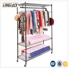 5 layer metallic wire shelf store wardrobe washroom factry supplier