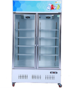 Supermarket cold drink freezer beverage fridge upright freezer showcase