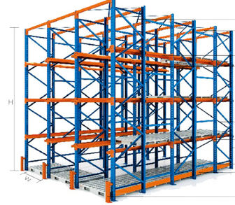 high density drive in rack for wooden pallet warehouse racks upright beam racks