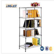5 layer houseware metallic wire shelf store NSF OEM factory