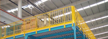 warehouse pallet rack supported steel mezzanine floor platform shelves