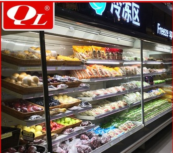 Grocery store air cooler cosmetic display case