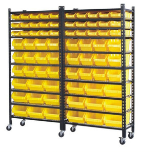 Spare parts organizer plastic Storage Bin Rack