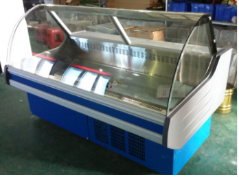 New design air cooling horizontal mini fridge display fridge freezer for meet display in supermarket (SUNRRY SY-FMS2500S)   Free Inspection
