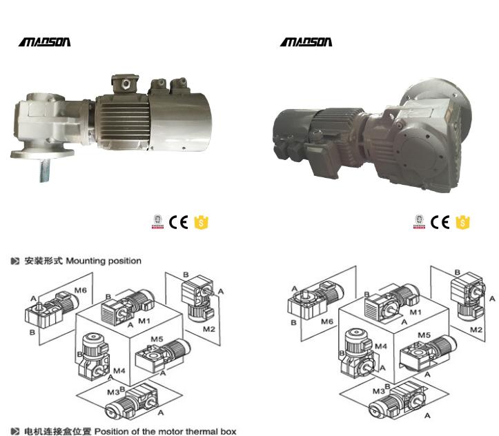 IEC Input Flange K Series Bevel Geared Motor