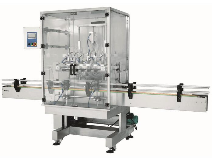 BSP-OF-800 automatic linear overflow filling machine with 6 head