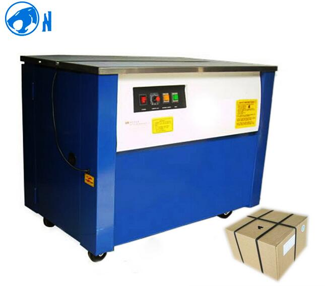PP / PET Semi Automatic Carton Box Strapping Machine