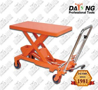 CE Certificate 107kg 750kg Steel Hydraulic Lifting Table Cart