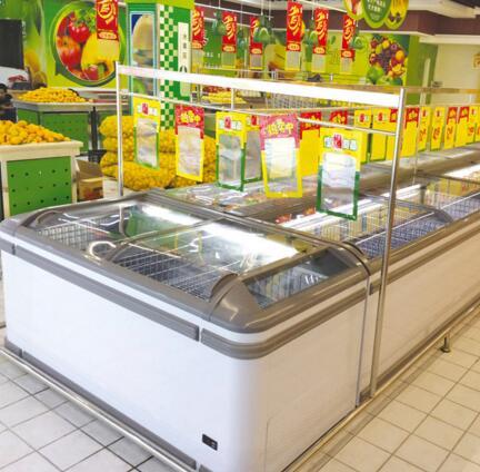 DIB181ECH1 Propane Gas R290 Refrigerant Chest Freezer AHT Paris for Shop Display