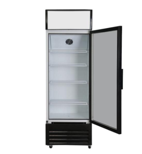 Supermarket commercial glass door upright freezer drinks display fridge