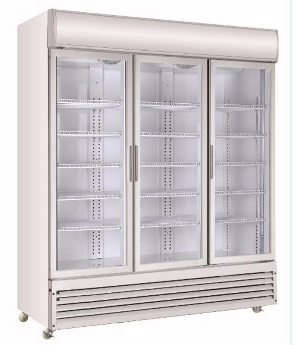 Commercial vertical cooler freezer monster energy drink display fridge