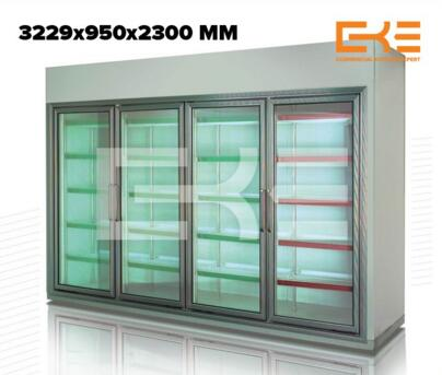 Size Can Be Customized Commercial Design Sliding Glasses Display Cabinet Showcases